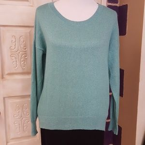 Sparkly Aqua sweater